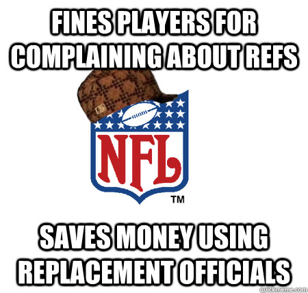 Fines Players for complaining about refs saves money using replacement officials