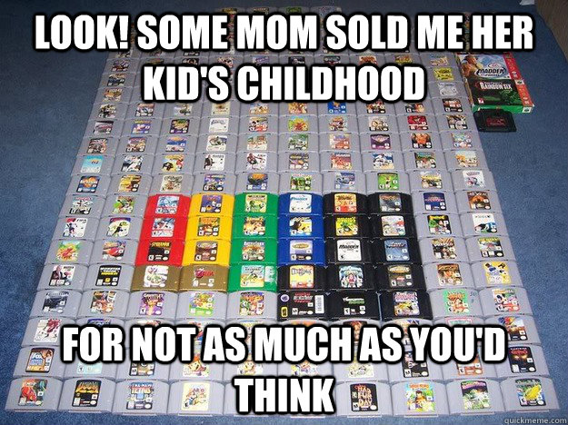 Look! Some mom sold me her kid's childhood for not as much as you'd think