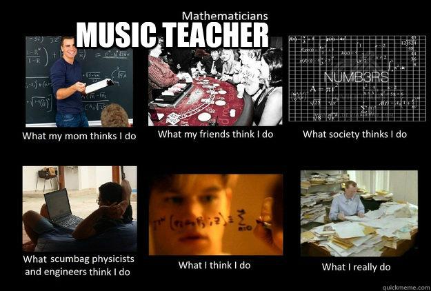 Music Teacher - Music Teacher  What  Thinks I Do