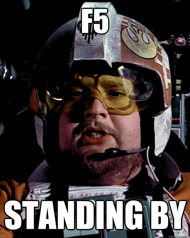 F5 Standing by - F5 Standing by  Porkins