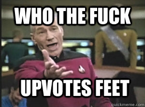 Who the fuck upvotes feet - Who the fuck upvotes feet  Annoyed Picard