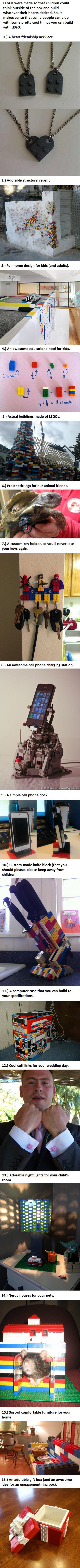 16 Awesome Uses For LEGO You Never Thought Of... -   Misc