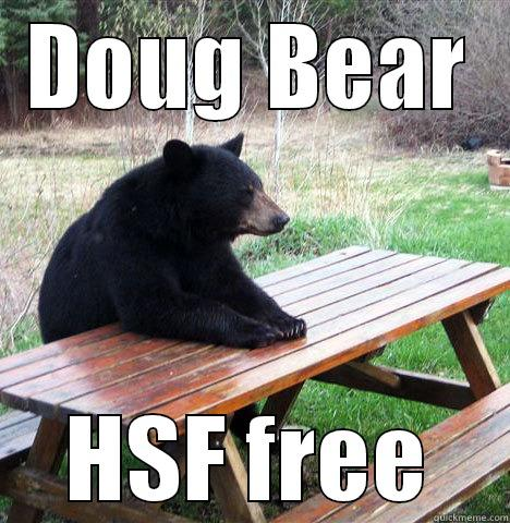 DOUG BEAR HSF FREE waiting bear