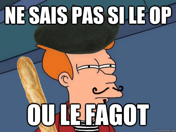 ne sais pas si le op ou le fagot - ne sais pas si le op ou le fagot  French Fry