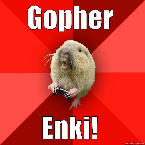 GOPHER ENKI! Gaming Gopher