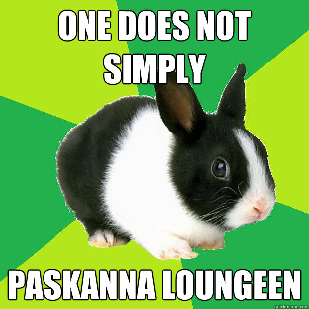 One does not simply PASkanna loungeen