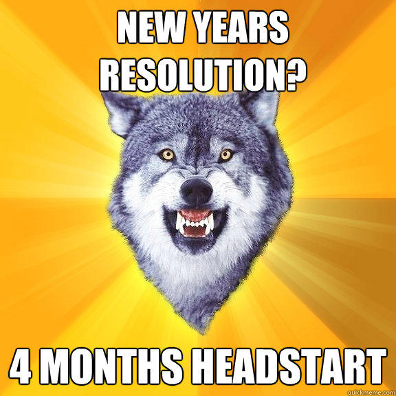 NEW YEARS RESOLUTION? 4 MONTHS HEADSTART - NEW YEARS RESOLUTION? 4 MONTHS HEADSTART  Courage Wolf