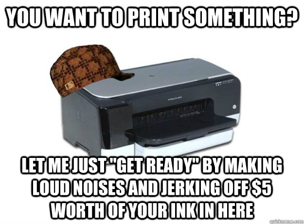 You want to print something? let me just