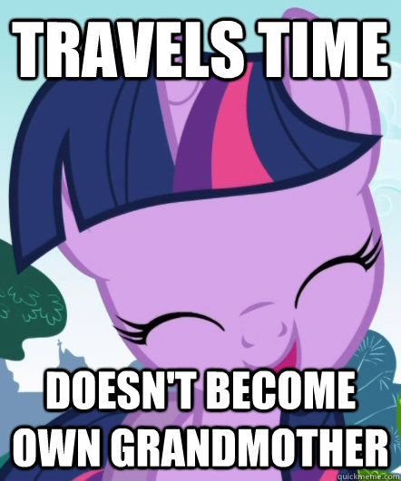 travels time doesn't become own grandmother  Good Gal Twilight