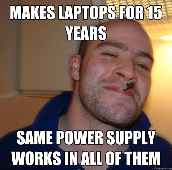 makes laptops for 15 years same power supply works in all of them - makes laptops for 15 years same power supply works in all of them  Misc