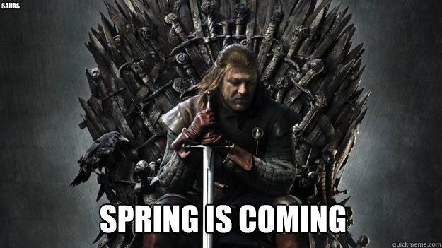 SPRING IS COMING Sahas