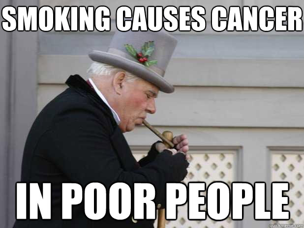 People with cancer from smoking