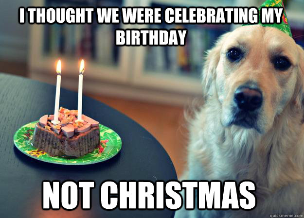 I Thought We Were Celebrating My Birthday Not Christmas Sad
