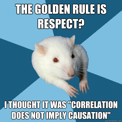 The golden rule is respect? I thought it was