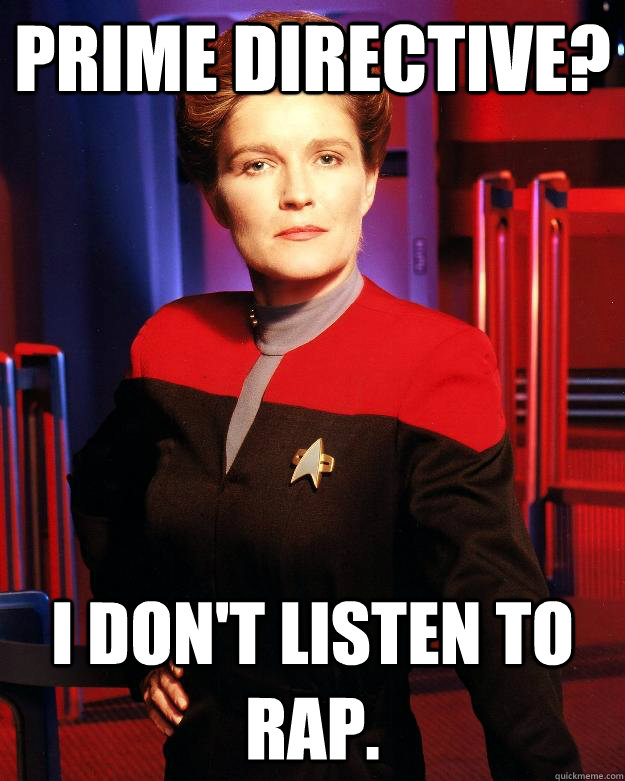 Prime Directive? I don't listen to rap.