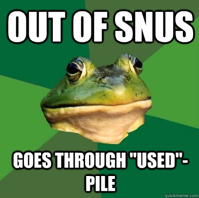 out of snus goes through