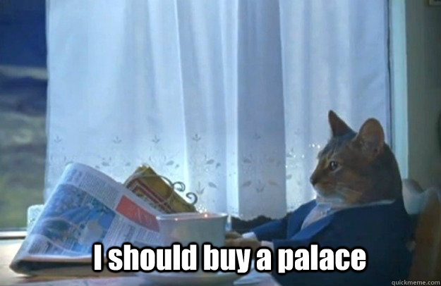 I should buy a palace - I should buy a palace  Sophisticated Cat