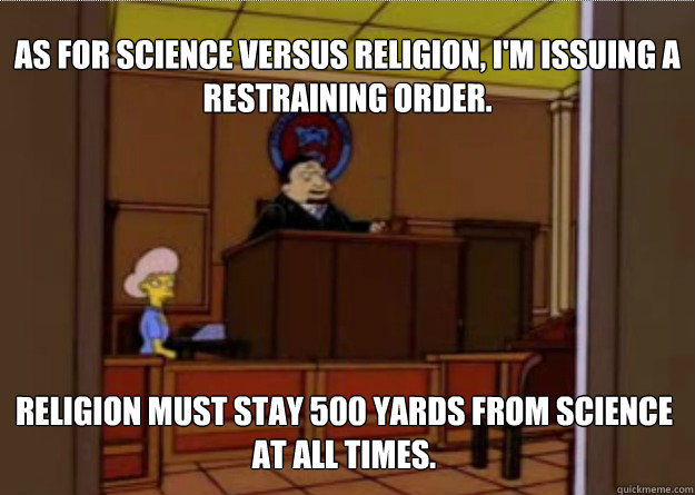 god vs science student and professor relationship