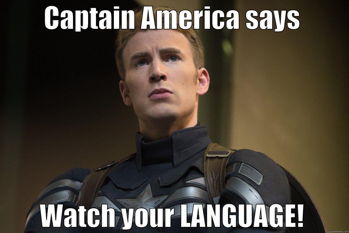 Language - Cap - CAPTAIN AMERICA SAYS WATCH YOUR LANGUAGE! Misc