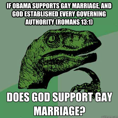 from Conrad gay marriage god