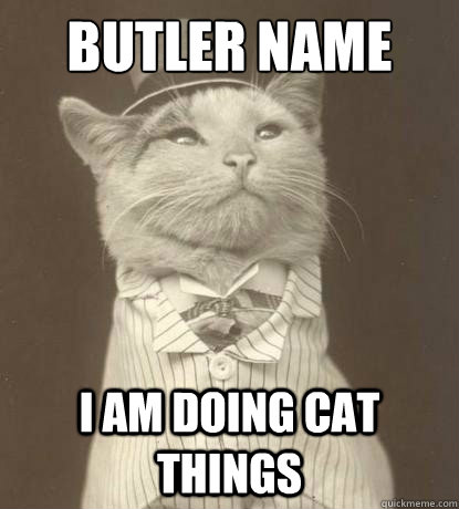 Butler Name I am doing cat things - Butler Name I am doing cat things  Aristocat