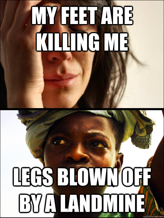 my feet are killing me legs blown off by a landmine