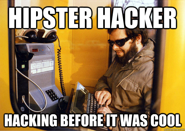Hipster Hacker hacking before it was cool - Hipster Hacker hacking before it was cool  Hipster Hacker