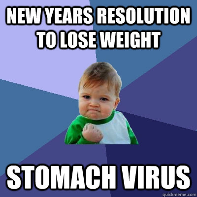 new years resolution to lose weight stomach virus - new years resolution to lose weight stomach virus  Success Kid