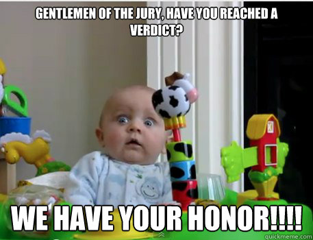 Gentlemen Of The Jury Have You Reached A Verdict We Your Honor