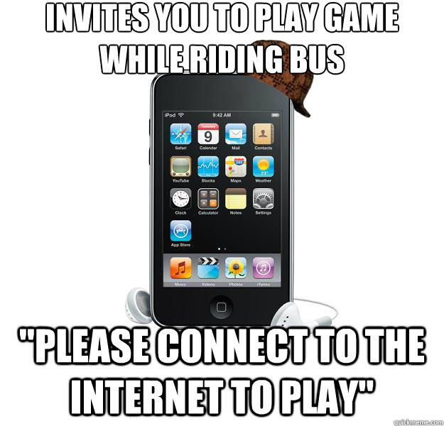 Invites you to play game while riding bus