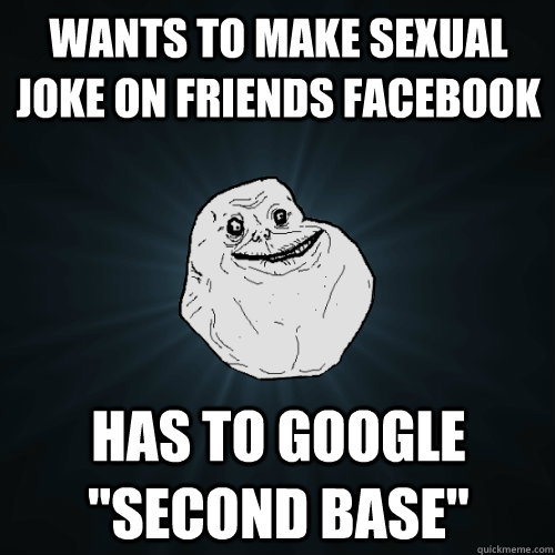 wants to make sexual joke on friends facebook has to google