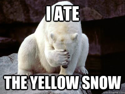 I ate The Yellow snow