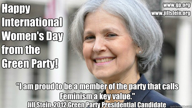 Happy International Women's Day from the Green Party!