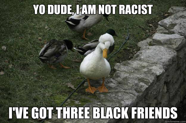 Yo Dude, I am Not Racist I've got three black friends - Yo Dude, I am Not Racist I've got three black friends  Misc