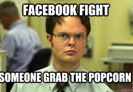 meme fight Popcorn facebook