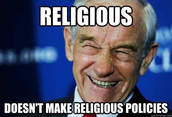 Religious doesn't make religious policies