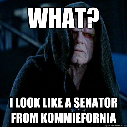 What? I look like a senator from kommiefornia