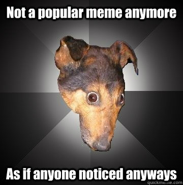 Not a popular meme anymore As if anyone noticed anyways  Depression Dog