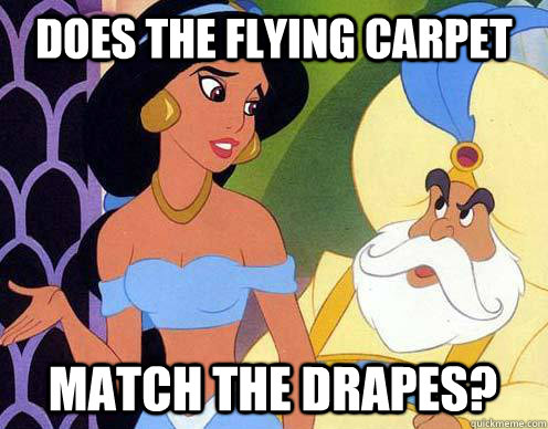 does the flying carpet match the drapes?