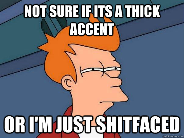 Image result for thick accent