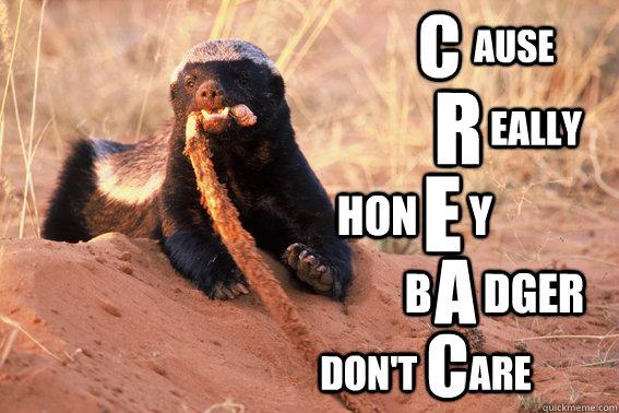 C R E A C Hon      y B      dger Don't       are eally ause