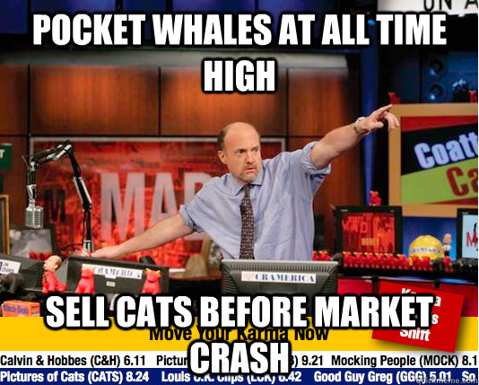 Pocket whales at all time high sell cats before market crash - Pocket whales at all time high sell cats before market crash  Mad Karma with Jim Cramer