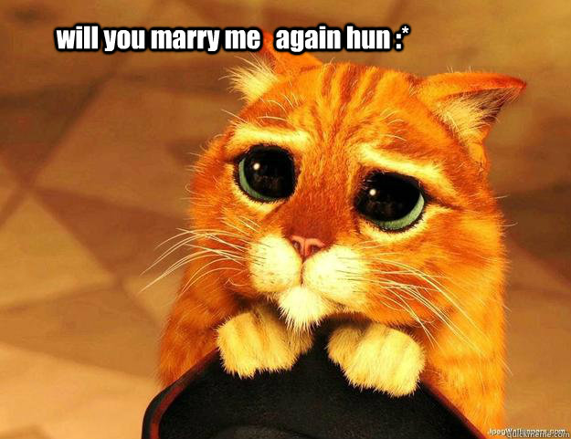 will you marry me   again hun :*