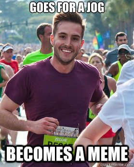 Goes for a jog becomes a meme - Goes for a jog becomes a meme  Ridiculously photogenic guy