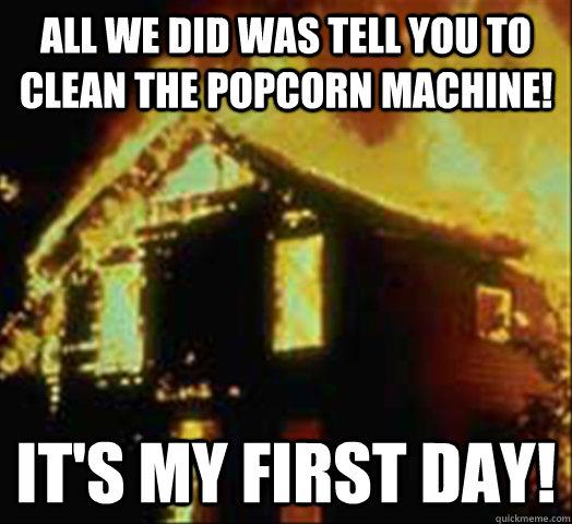 burning house meme