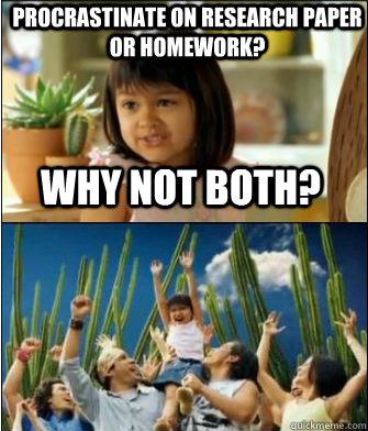 Homework; research paper?