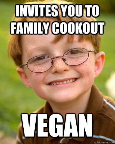 Invites you to family cookout vegan