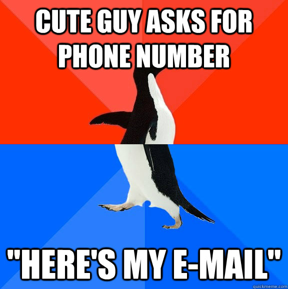 Cute guy asks for phone number