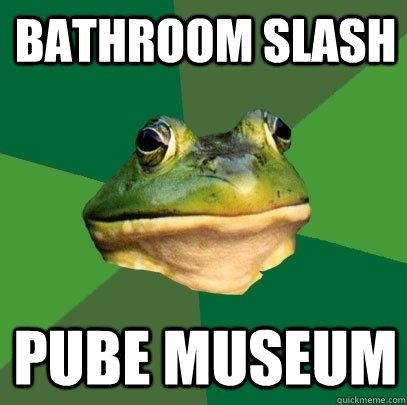 Bathroom slash Pube museum - Bathroom slash Pube museum  Foul Bachelor Frog
