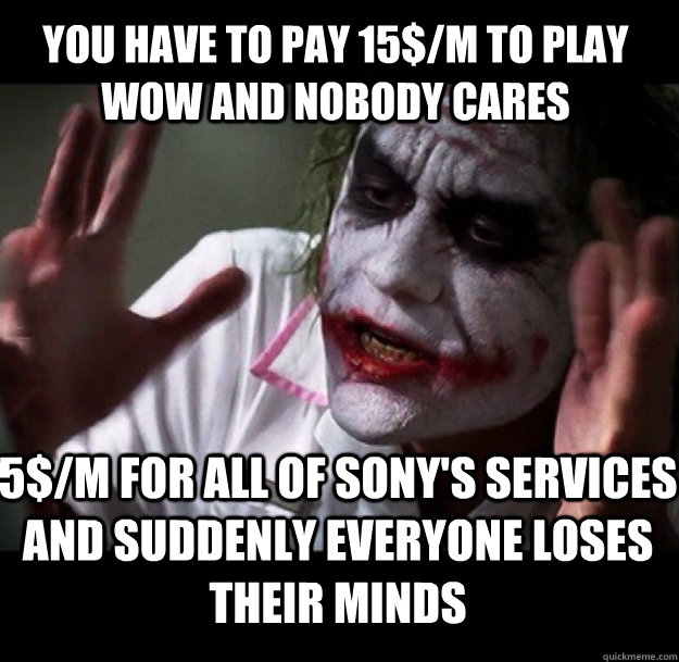 Nobody Cares Meme Joker You have to pay 15$/m ...